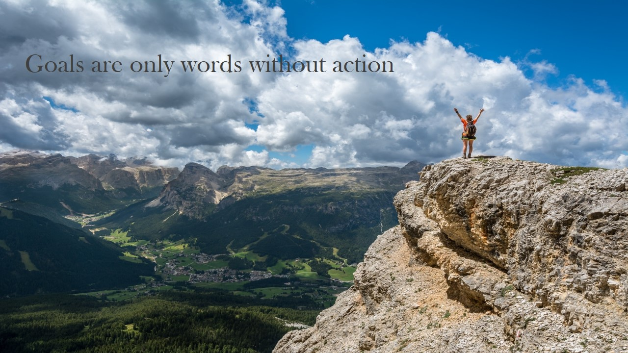 Goals are words without action