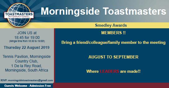 22 August 2019 Meeting